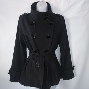 EUC Wool blend made in Italy trench coat